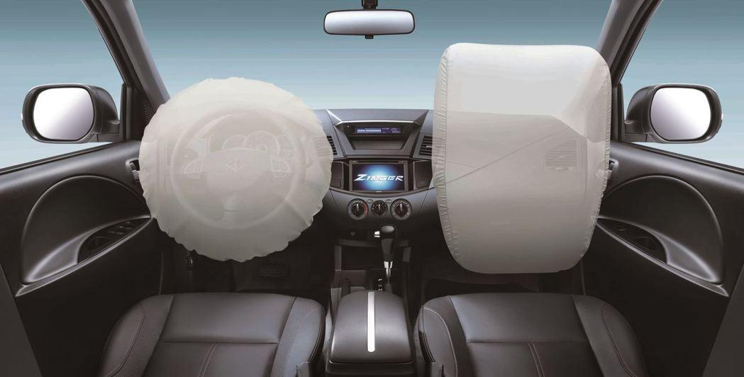 配備雙前座SRS輔助氣囊。 圖/中華三菱提供