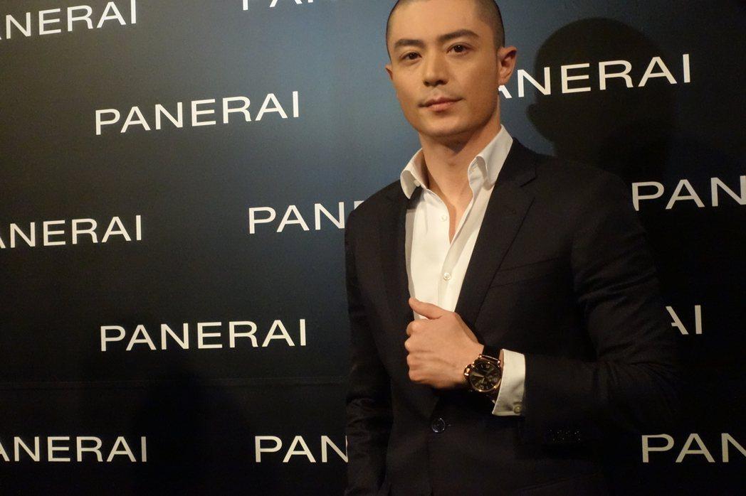 霍建華成為沛納海大中華代言人,以光頭造型帥氣登場。特派記者曾智緯/攝影