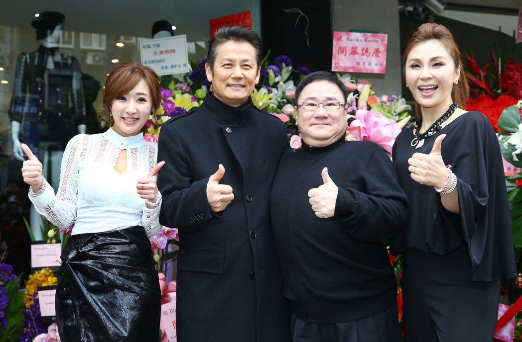 八點檔女星羅巧倫(左)一圓創業夢,籌備多時的韓國精選服飾品牌Barika,正式開...