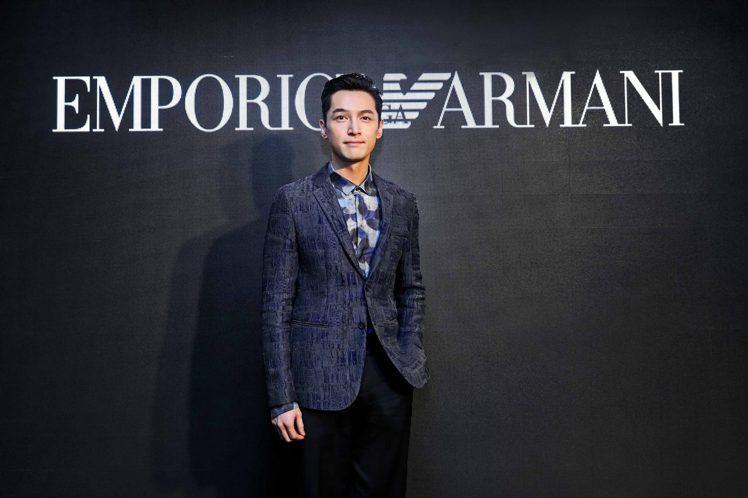 胡歌出席Emporio Armani為他舉辦的亞太區的代言人派對活動,型男魅力電...