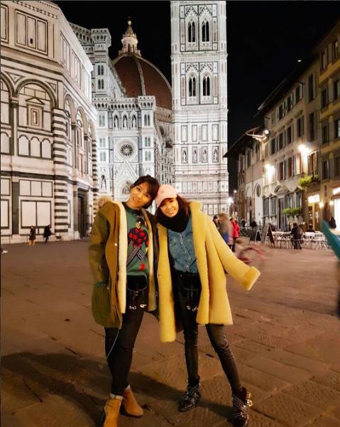 蔡健雅與好友蔡依林近日一同前往威尼斯度假。圖/摘自IG