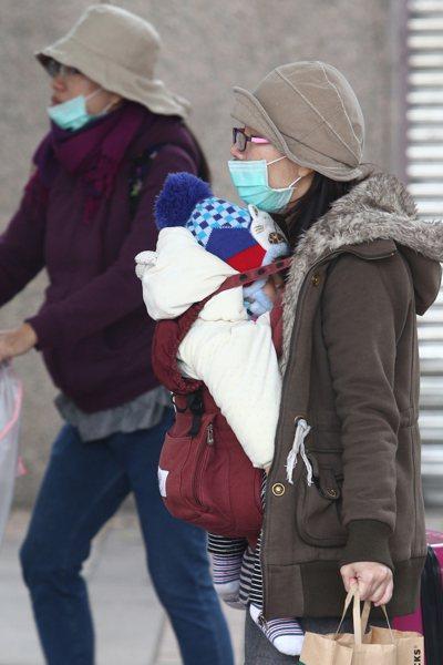 氣溫忽冷忽熱,民眾要注意保暖。 記者蘇健忠/攝影