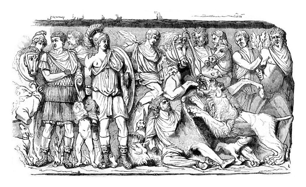 不僅高盧人,還有許多祖上非羅馬人的新公民,繼續為帝國貢獻心力。圖為帝國揮下的高盧...