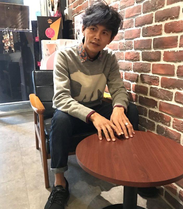 阿翔坦言對浩子放下他一個人,一開始有怨,但後來已坦然接受。記者葉君遠/攝影