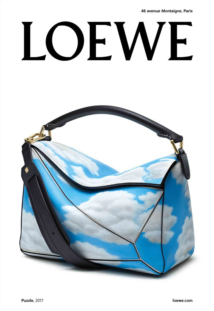 LOEWE 2017秋冬女裝廣告系列以Puzzle Bag作為第二形象。圖/LO...