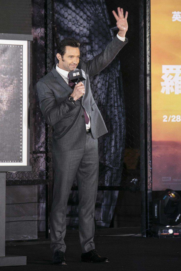 休傑克曼配戴萬寶龍TimeWalker時光行者系列兩地時間腕表出席電影「羅根」首...