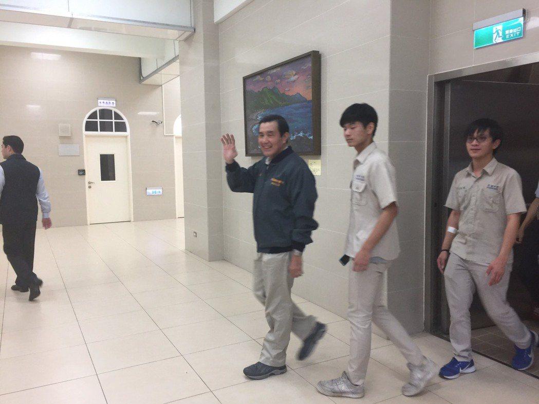 前總統馬英九穿建中制服回母校建中演講。 圖/報系資料照