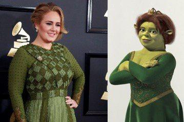 本屆葛萊美獎大贏家愛黛兒被毒舌網友譏諷:「她穿著綠色禮服,活像『史瑞克』系列的費歐娜變成妖怪的模樣。」讓她忍了快一個月,終於決定反擊。愛黛兒在音樂上的造詣和並不纖細的身材,永遠是外界討論的兩大焦點。...