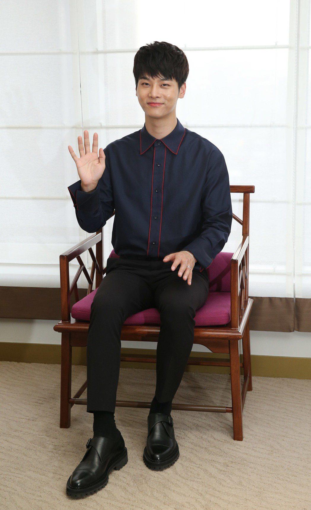 韓團vixx 隊長N訪台。記者陳瑞源/攝影