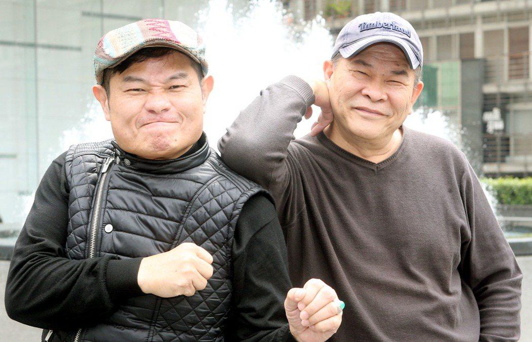 許效舜(左)、澎恰恰(右)專訪。記者屠惠剛/攝影
