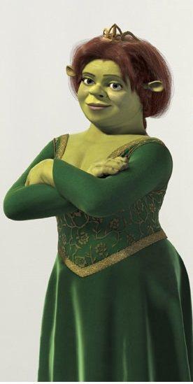 「史瑞克」片集中,費歐娜公主變成妖怪的經典造型。圖/摘自cinemablend