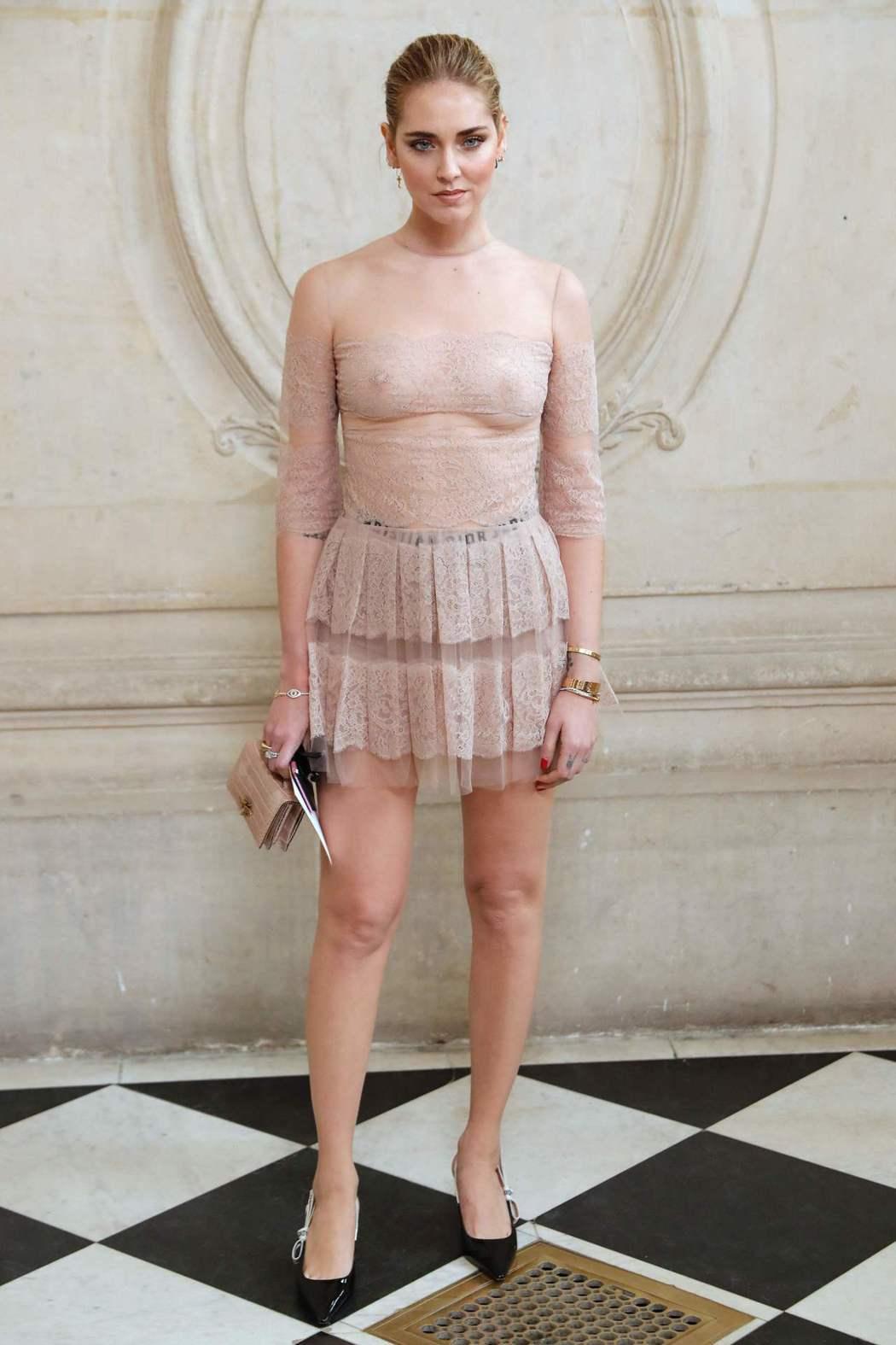 Chiara Ferragni「裸」視感徹底。(法新社)