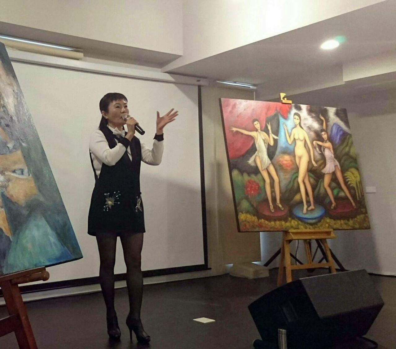 「迴旋夢裡的女人」許曉丹,應高雄市性健康協會發表專題演說。圖/高雄市性健康協會提...