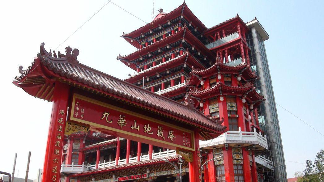 九華山地藏庵位在嘉義市民權路上,是當地信仰中心。記者王慧瑛/攝影