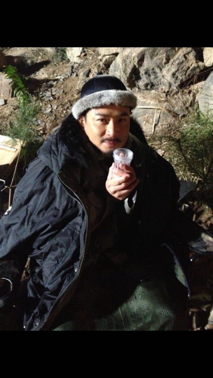 江宏恩拍戲遇雪災。圖/艾迪昇提供