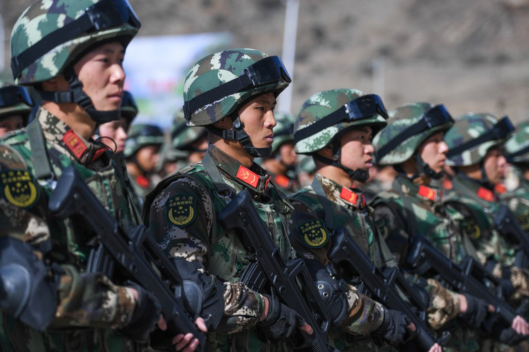 西藏公安邊防總隊。 中新社