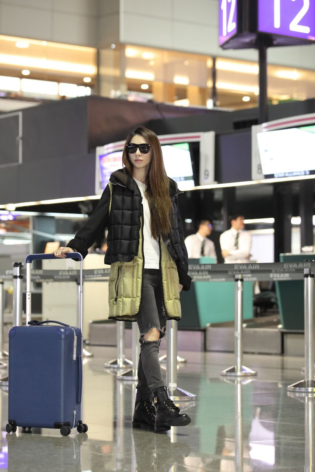 Hebe田馥甄前往巴黎參加路易威登2017秋冬女裝秀。圖/路易威登提供