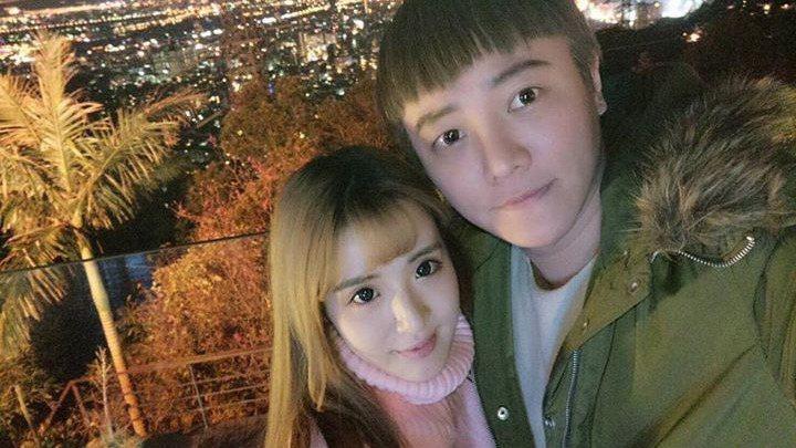 阿沁與老婆花花。圖/摘自臉書