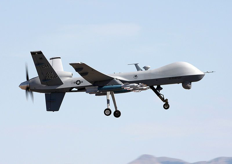 美軍MQ-9死神無人機。翻攝維基百科