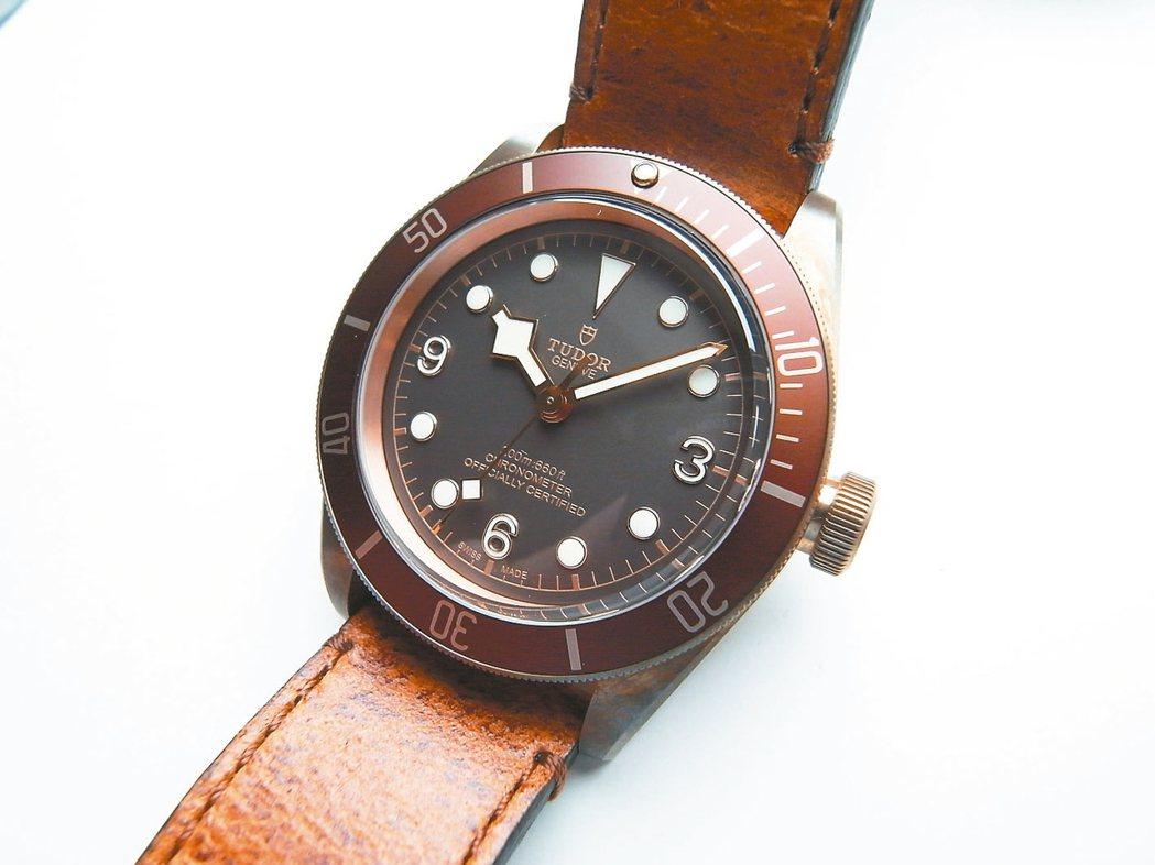 Tudor帝舵的青銅表是除了Panerai以外最保值的銅殼手表。 圖/曾士昕攝影