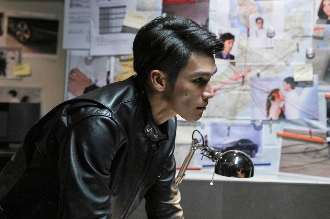 首度跨足電影,陽岱鋼飾演偵探演技一流。 圖/中華三菱提供