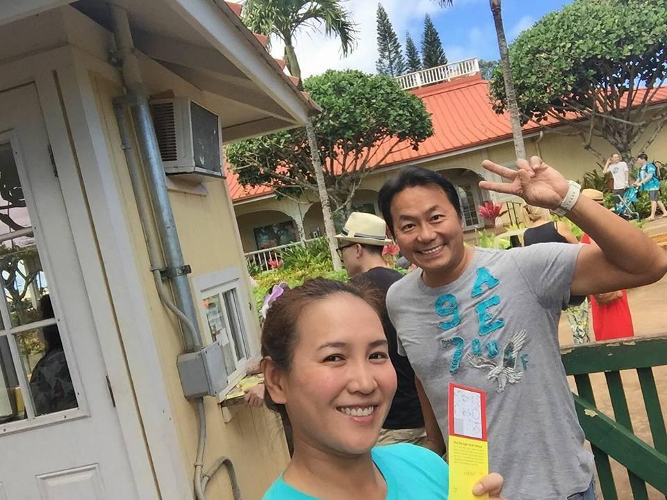 張克帆和老婆到夏威夷度蜜月。圖/摘自張克帆臉書
