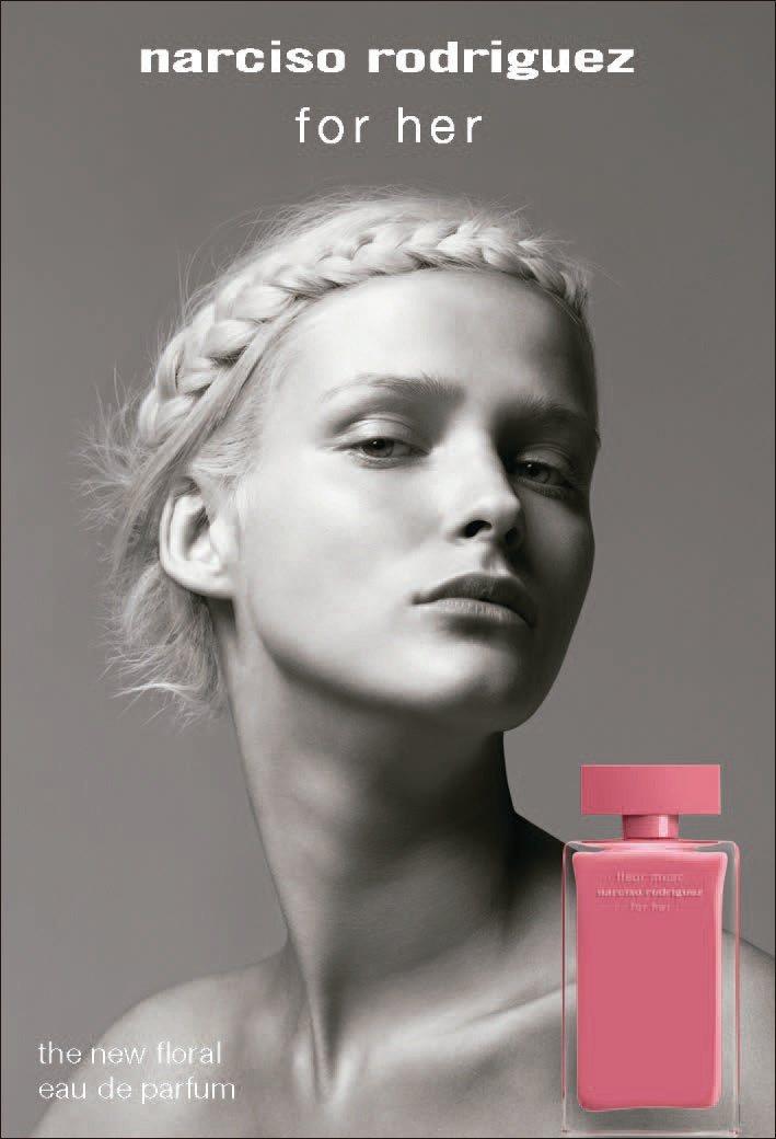 高級訂製服品牌Narciso Rodriguez在4月推出桃色優雅淡香精。圖/法...