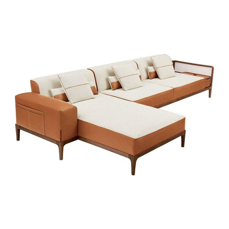 Sofa Sellier系列沙發,205萬8,800元。圖/愛馬仕提供
