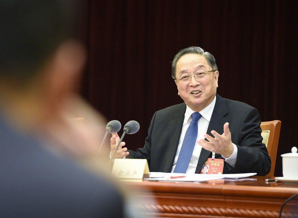 中共中央政治局常委、全國政協主席俞正聲。中新社 中新社