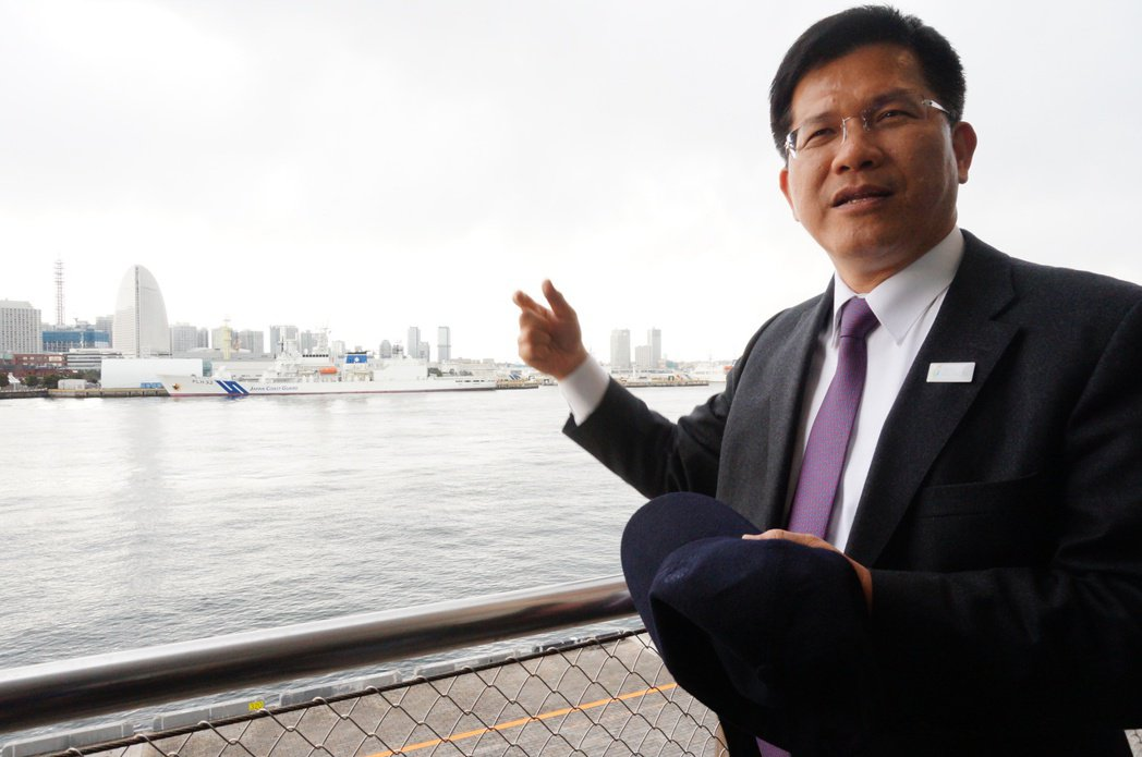 台中市長林佳龍目前在東京行銷2018台中世界花卉博覽會,今天下午拜訪橫濱市,對於...
