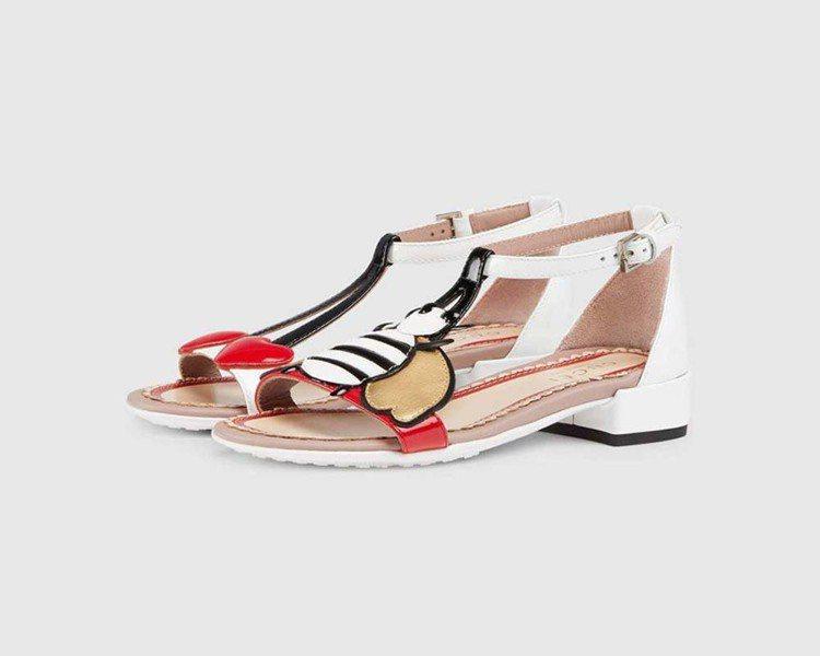 蜜蜂與櫻桃造型涼鞋,15,000元。圖/Gucci提供