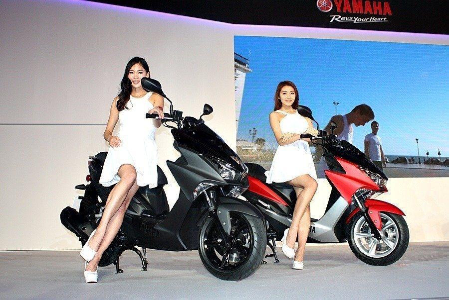 FORCE 155銷售表現不錯,超乎YAMAHA預期。 記者林和謙/攝影