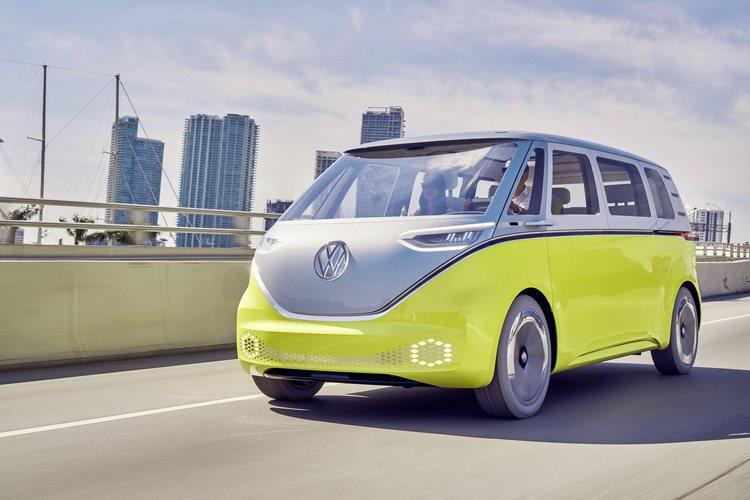 Volkswagen I.D. BUZZ電動概念車。 圖/台灣福斯提供