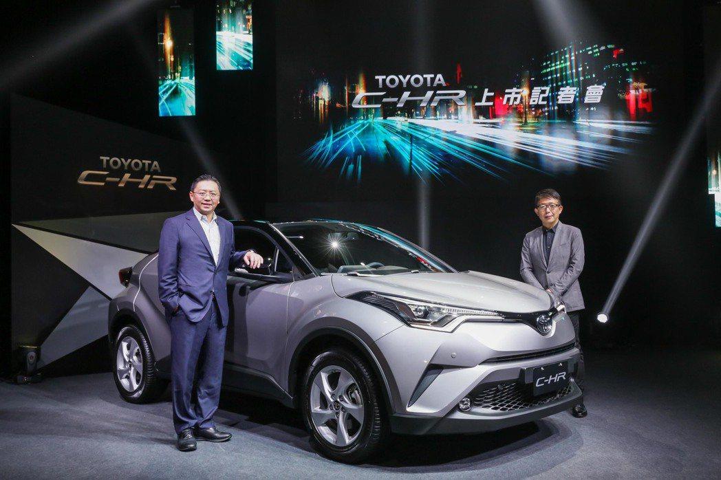 Toyota C-HR正式發表,提供經典、豪華、尊爵AWD三個等級,售價從89.9萬到107.9萬。 圖/和泰汽車提供