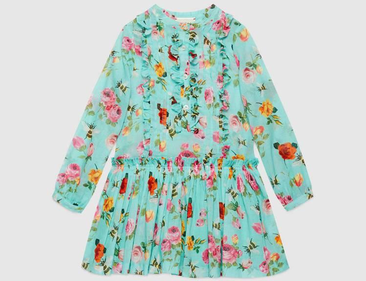 花卉昆蟲印花洋裝,價格店洽。圖/Gucci提供