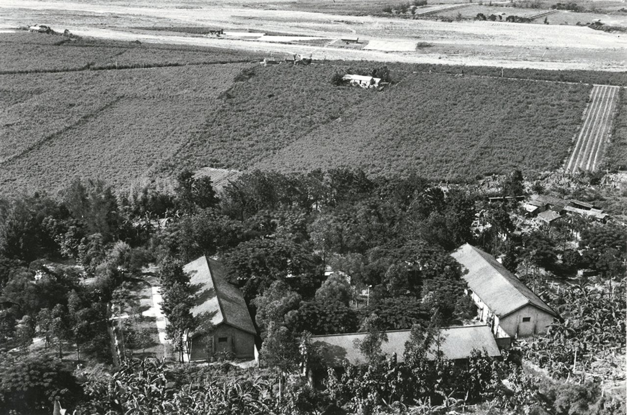1950年代的北溝故宮庫房鳥瞰。 圖/莊靈攝影