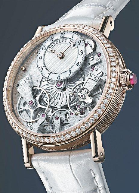 寶璣Tradition Dame 7038自動上鍊腕表,37mm 18K玫瑰金表...