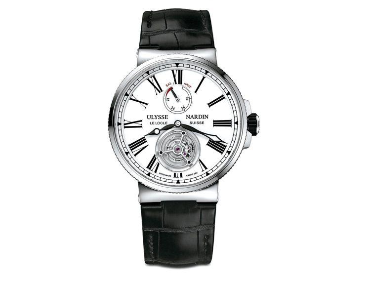 雅典航海大明火琺瑯陀飛輪腕表,93萬9,800元。 圖/各業者提供