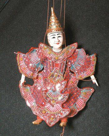 來自印尼的提線魁儡。 記者蘇健忠/攝影