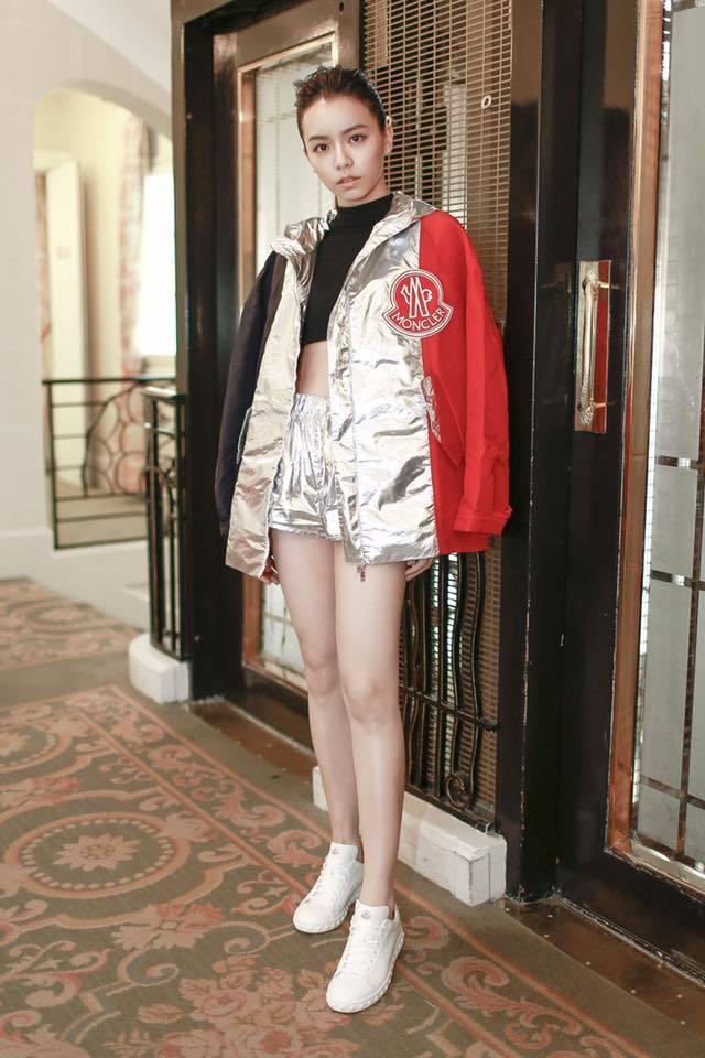 宋芸樺一雙腿筆直又白皙。 圖/擷自臉書