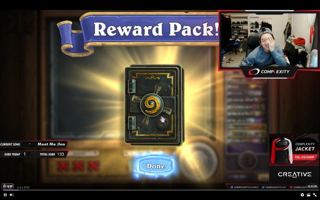 身為天梯#1常客的Tyler,也是會吞個零勝三敗,領個一包價值1000g的卡包出...