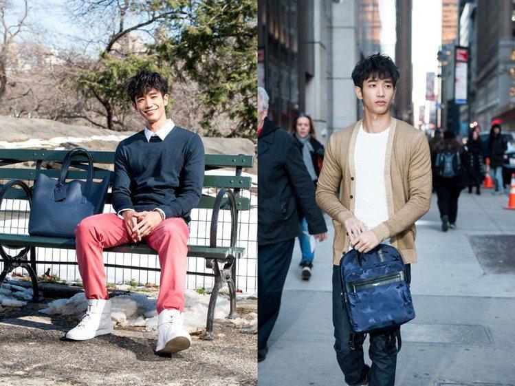以簡約襯衫或針織衫搭配白鞋,瞬間變成活潑的大男孩風格。圖/MICHAEL KOR...