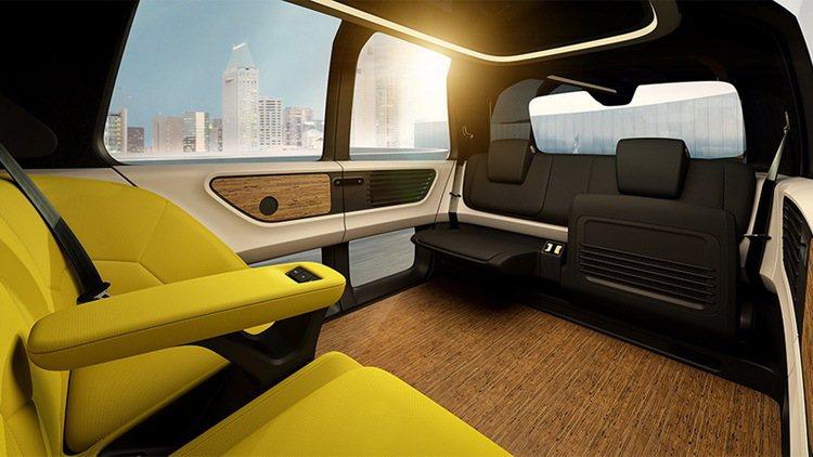 Volkswagen Group在日內瓦車展發表Sedric概念電動自駕車。 圖...