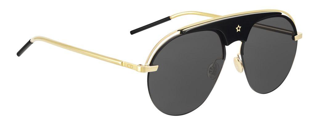 孔曉振款Dio(r)evolution黑色與金色飛行員造型太陽眼鏡,售價19,8...