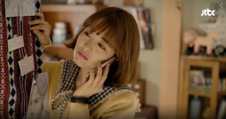 朴寶英在「大力女子都奉順」中Q萌模樣。圖/翻攝自JTBC官網