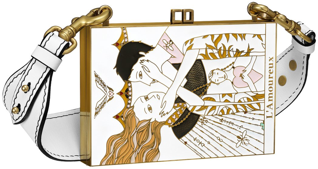 全台獨家The Lover塔羅牌圖騰琺瑯材質手拿包,280,000元。圖/Dio...