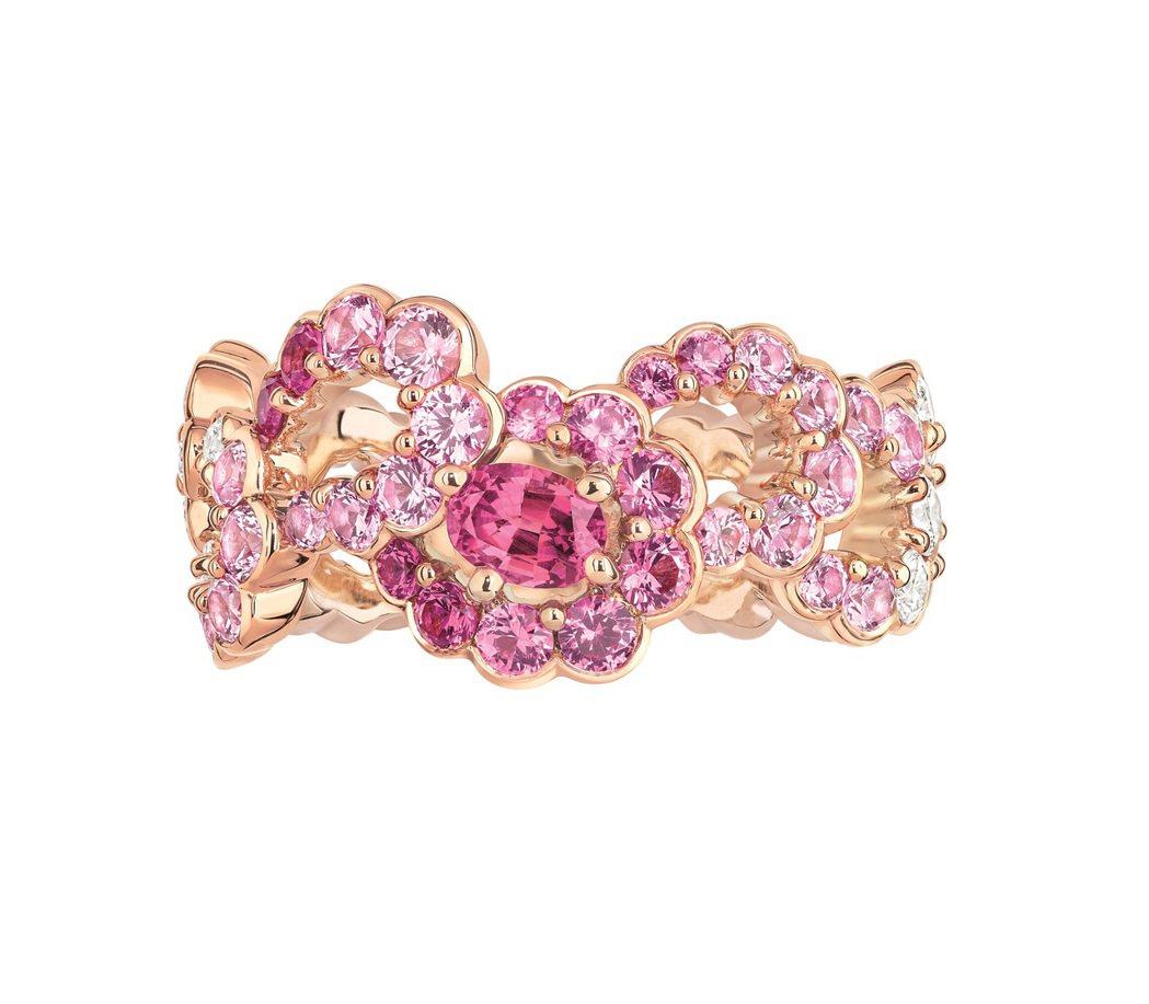 全台獨家Archi Dior粉紅剛玉鑽石戒指,售價770,000元。圖/Dior...