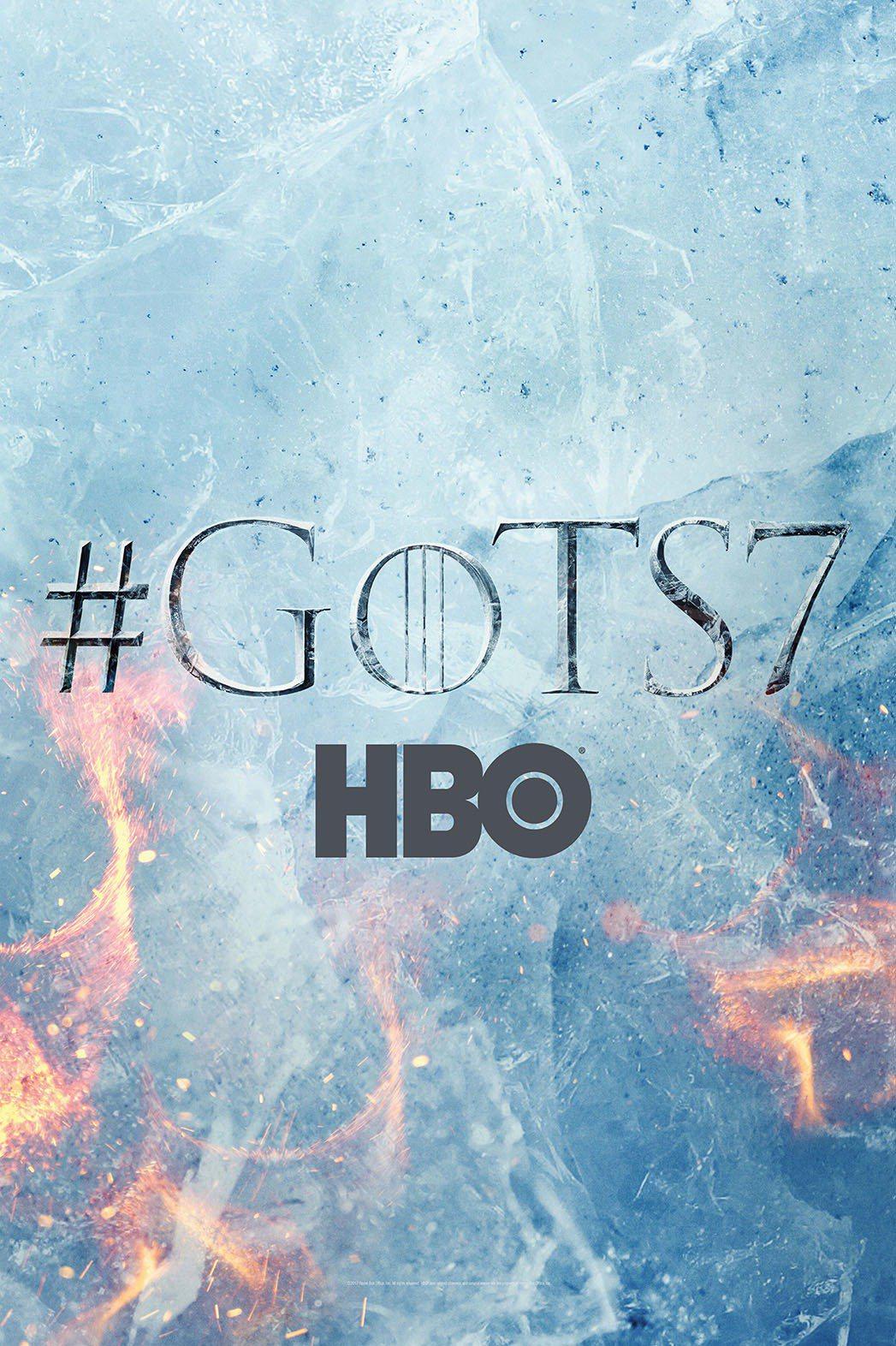 「冰與火之歌:權力遊戲」第7季前導海報,充滿意象而未洩露任何關鍵情節。圖/摘自V