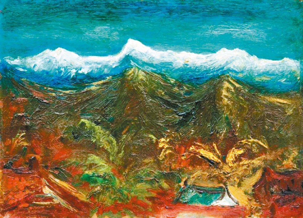 二二八事件受難者、畫家陳澄波的最後遺作真跡「玉山積雪」(見圖)、傳家畫「清流」和...