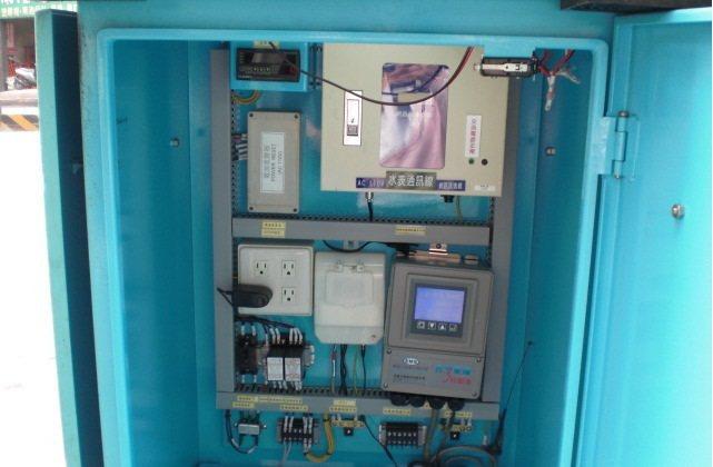 監控站內流量與水壓傳訊設備使用以色列的大數據系統。 圖/台水提供